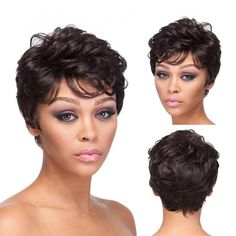Pixie Fashion Short Curly Wigs for sale Short Curly Pixie, Pixie Cut Wig, Short Hair Wigs, Full Hair, Big Hair, Curly Hair Styles, Natural Hair Styles, Natural Hair Wigs, Womens Wigs