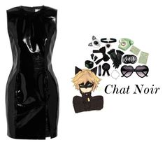 """""""Chat Noir"""" by xoxkenzie ❤ liked on Polyvore featuring Topshop Unique, ASOS, Madewell, Wild & Wolf, Fleur du Mal and David Yurman"""