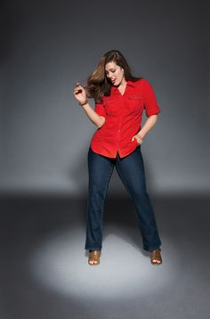 Straight Leg Jean With T3 Tighter Tummy Technology. Built-in control panel firms and flattens your tummy! #LaneBryant