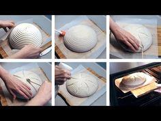 Narezávanie a pečenie kváskového chleba (Scoring) How To Make Bread, Pizza Dough, Make It Yourself, Tableware, Cooking, Youtube, Tips, Garden, Garten