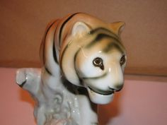 Royal Dux Bohemia  Tiger Czech Republic by TheIDconnection on Etsy, $100.00