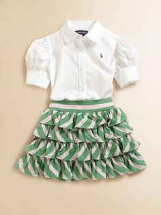 ralph lauren toddler striped skirt - this outfit is beyond precious!