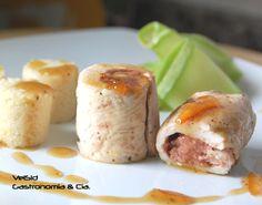 Receta de Pollo relleno de foie con cuscús a la naranja