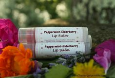 Peppermint Elderberry Lip Balm