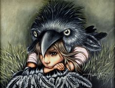Angelina Wrona Page 3 Crows Ravens, Pop Surrealism, Science Fiction, Photo Art, Fantasy Art, Digital Art, Random Pictures, Bird, Art Journaling
