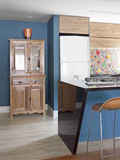 Combinando o rústico ao moderno, para uma cozinha única e linda.