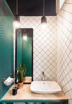 Baranova Pokorsky creates simple plant-filled interior for St Petersburg coffee . - Home Decor Bathroom Interior Design, Decor Interior Design, Interior Decorating, Small Room Interior, Decorating Ideas, Apartments Decorating, Decorating Websites, Deco Design, Tile Design
