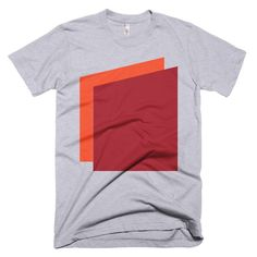 c42a2d98d Simple Shapes in Orange and Red Men s T-shirt