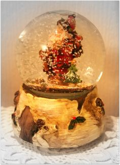 Tall Christmas Snow Globe