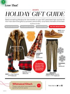 Two Maine brands make the Gift Guide in December issue of O magazine: Quoddy & LL Bean