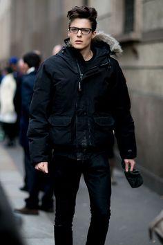 Off Duty Male Models Street Style Milan....