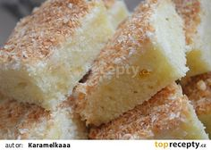 Kokosová super buchta recept - TopRecepty.cz Cornbread, Vanilla Cake, Cheese, Ethnic Recipes, Food, Millet Bread, Essen, Meals, Yemek