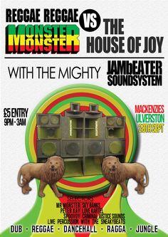 Monster Monster Reggae Reaggae Poster