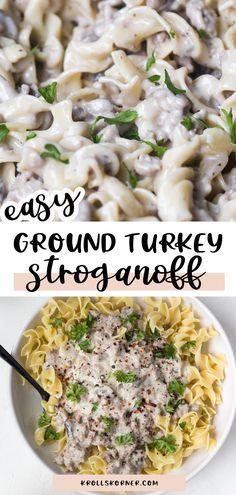 Best Ground Turkey Recipes, Ground Turkey Dinners, Turkey Crockpot Recipes, Keto Recipes, Dinner Recipes, Cooker Recipes, Crockpot Meals, Pasta Recipes, Slow Cooker Lentils