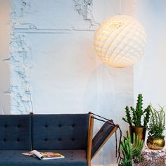 See the intriguing Patera at Louis Poulsen. The pendant is a glowing sphere built up of small diamond-shaped cells. Each cell is carefully designed to capture light, and each cell glows. Show Beauty, Spiral Pattern, Source Of Inspiration, Hygge, Great Artists, Fractals, Fascinator, Table Lamp, Lighting