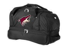 Denco Sports Luggage Phoenix Coyotes Black Bottom Duffel