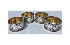Rare set 4 Silver Master Salts Hunt & Roskell Storr & Mortimer,...