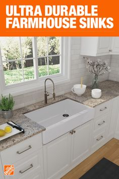 Special Values - Farmhouse Kitchen Sinks - Kitchen Sinks - The Home Depot Kitchen Redo, Home Decor Kitchen, Interior Design Kitchen, New Kitchen, Kitchen Sinks, Kitchen Remodel, Kitchen Dining, Kitchen Ideas, Interior Ideas