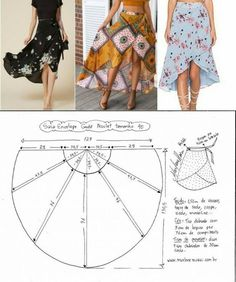 ♥ Deniz ♥ by amparo , , Pattern fashion skirt.♥ Deniz ♥ by amparo joyce Pattern fashion skirt.♥ Deniz ♥ by amparo. Fashion Sewing, Diy Fashion, Ideias Fashion, Fashion Outfits, How To Make Skirt, How To Make Clothes, Skirt Patterns Sewing, Clothing Patterns, Pattern Skirt