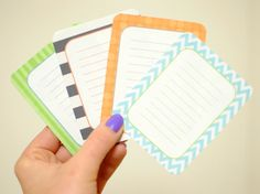 Free Printable Journal Cards! Must print these