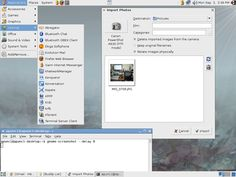 Linux Screenshot. Linux is good and free system. I think that our date are safer than in windows.