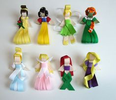 YOU Pick TWO Princess Sculpture Ribbon Hair Clips by SAuvigne23, $6.75