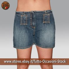 Pantaloncini Short Bermuda Donna Jeans vintage