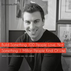 Brian Chesky - Founder and CEO @Airbnb He has built a platform nobody of think of before! #inspirationmonday #quoteoftheday