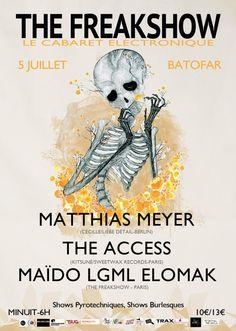 The Freakshow | Batofar | https://beatguide.me/paris/event/batofar-the-freakshow-matthias-meyer-the-access-maido-20130705