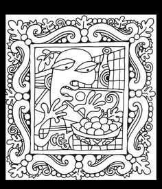 free coloring page coloring adult picaso style drawing coloring adult