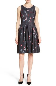 Ivanka Trump Floral Print Scuba Fit & Flare Dress available at #Nordstrom