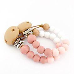 Baby Infant Toddler Spring Dummy Pacifier Soother Nipple Clips ChainHolder DSUK