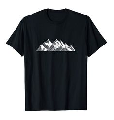 Rocky Mountain T-Shirt, art work created in attempt to match the Rocky Mountains.