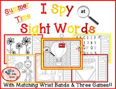 I Spy Sight Words Interactive Bundle Sight Word Games, Sight Words, Classroom Fun, Classroom Resources, Kindergarten Classroom, Word Study, Word Work, 1st Grade Activities, Reading Activities