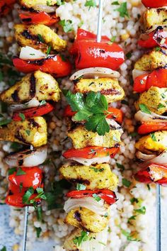Enjoy this Citrus Moroccan Chicken Kebabs with Yogurt-Clementine Sauce year round! The chicken kebabs marinade is amazing! Canned Corn Recipes, Can Cooker, Moroccan Vegetables, Recipe For 8, Moroccan Chicken, Healthy Pumpkin, Healthy Zucchini, Chicken And Vegetables, Smoothie Recipes
