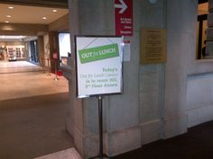Our for Lunch Concert Poster at Vancouver Art Gallery.
