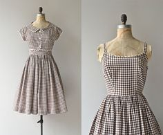 Roadside Picnic dress  vintage 1950s dress  gingham by DearGolden, $138.00