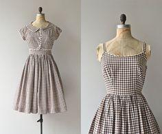Roadside Picnic dress  vintage 1950s dress  gingham by DearGolden, $138.00 Fabulous.