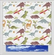 Dino White blackout roller blind