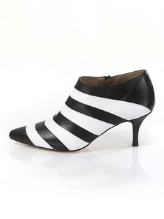 Ankle-Boots, schwarz-weiß von Alba Moda