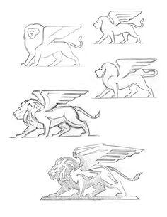 Lion pencils by Carlos Fernandez
