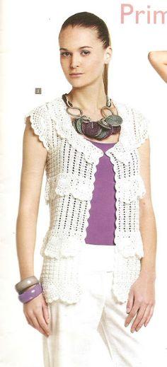 Patrón #1625: Chaqueta a Crochet. #crochet  http://blgs.co/BCpT3G