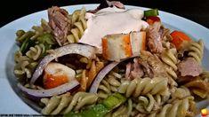 ENSALADA DE PASTA CON CANGREJO, ATÚN, Y SALSA ROSA - Oido Cocina!! Salsa Rosa, Pasta Salad, Ethnic Recipes, Food, Al Dente, Crab Pasta Salad, Crawfish Pasta, Mushroom Sauce, Roasted Red Peppers