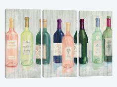 Keeping Good Company on Wood by Avery Tillmon 3-piece Canvas Art Print