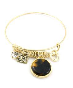 Brown Acrylic Tortoise Charm Bracelet from SparklesandPop