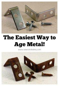 ¿Se ha preguntado cómo edad de los metales?  Podemos conseguir que la mirada en el país y que no requiere mucho tiempo.  La mejor parte es que usted probablemente ya tiene todos los suministros a mano para hacerlo.  Sin duda, este es el modo más fácil de metal de la era NUNCA!