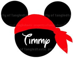 Pirate DIY Iron Appliqué Disney Vacation Minnie by tangledtastic, $5.00