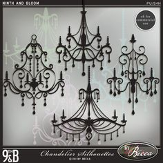 Chandelier Silhouettes... SO cool!