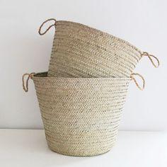"From Gonzalez Gonzalez Myers McCammon, our market editor: ""fine weave baskets. Sisal, Casa Petra, Basket Bag, Wicker Baskets, Woven Baskets, Simple House, Decoration, Basket Weaving, Home Accessories"