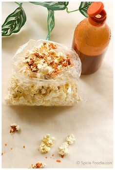 Hadn't occurred to me before... popcorn with hot sauce.